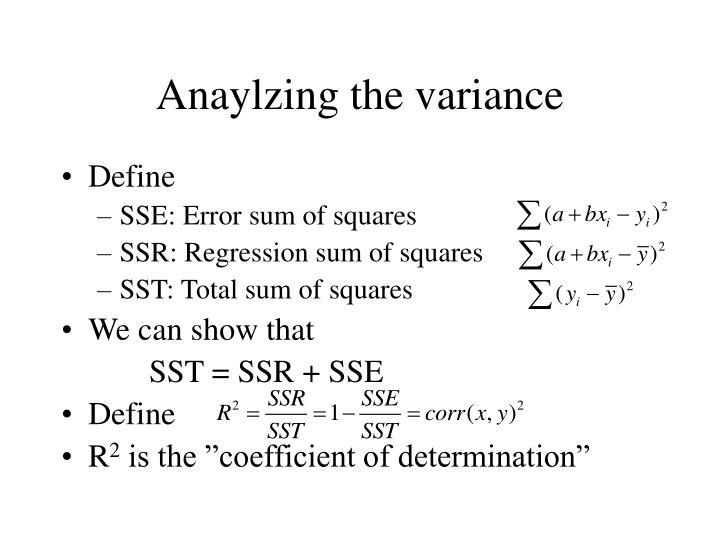 Anaylzing the variance