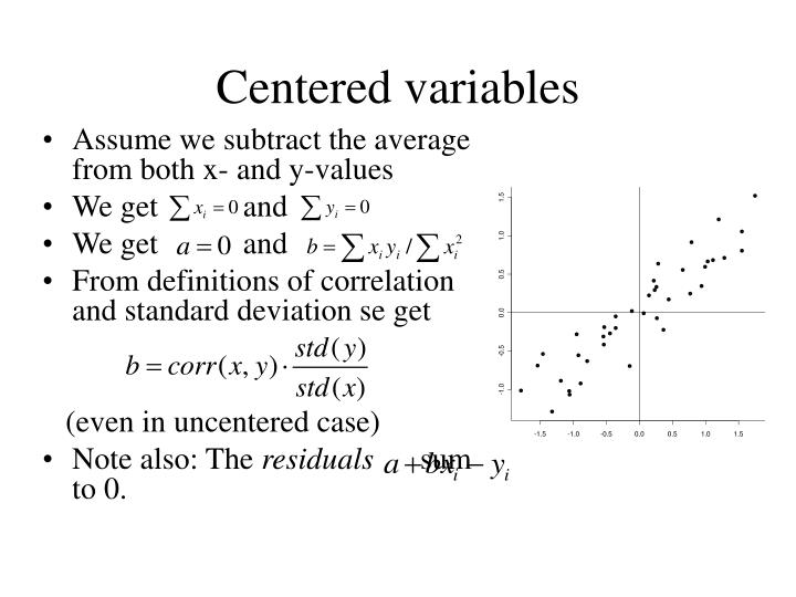 Centered variables