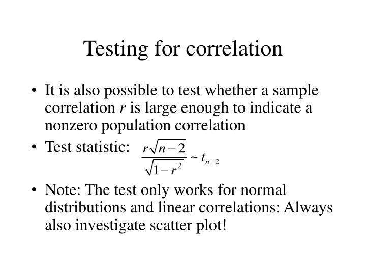 Testing for correlation