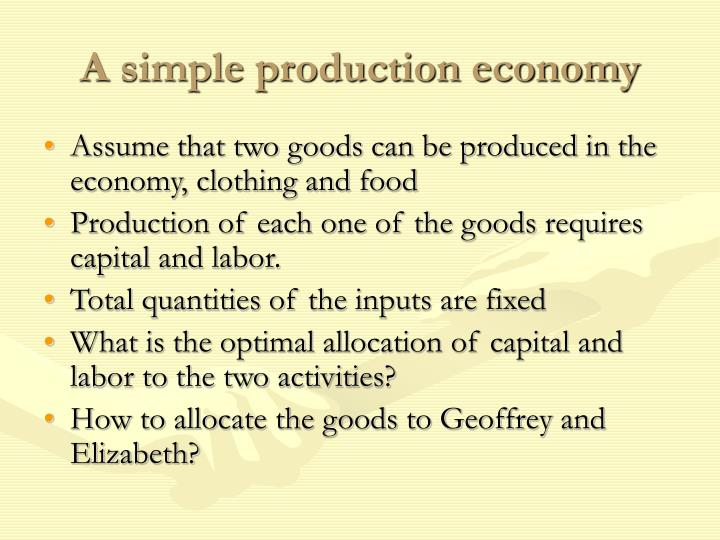 A simple production economy