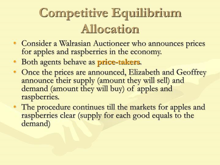 Competitive Equilibrium Allocation