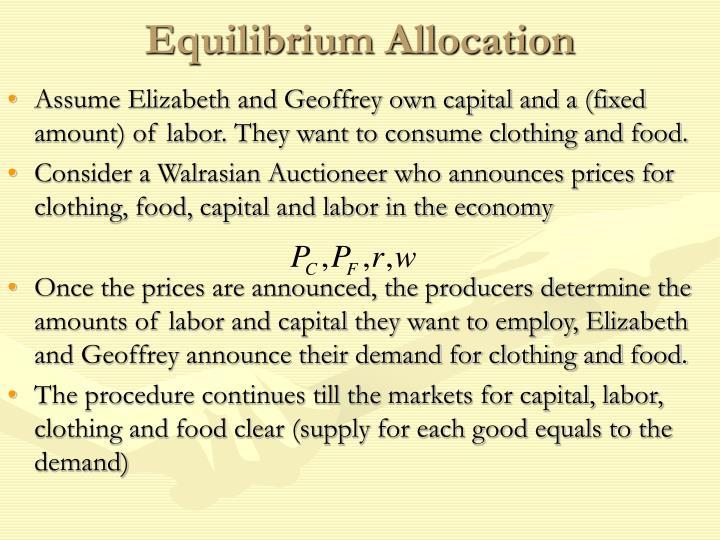 Equilibrium Allocation