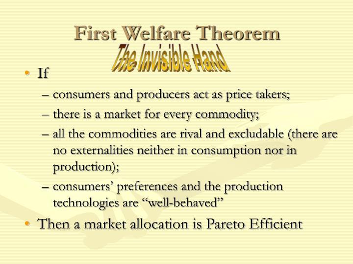 First Welfare Theorem