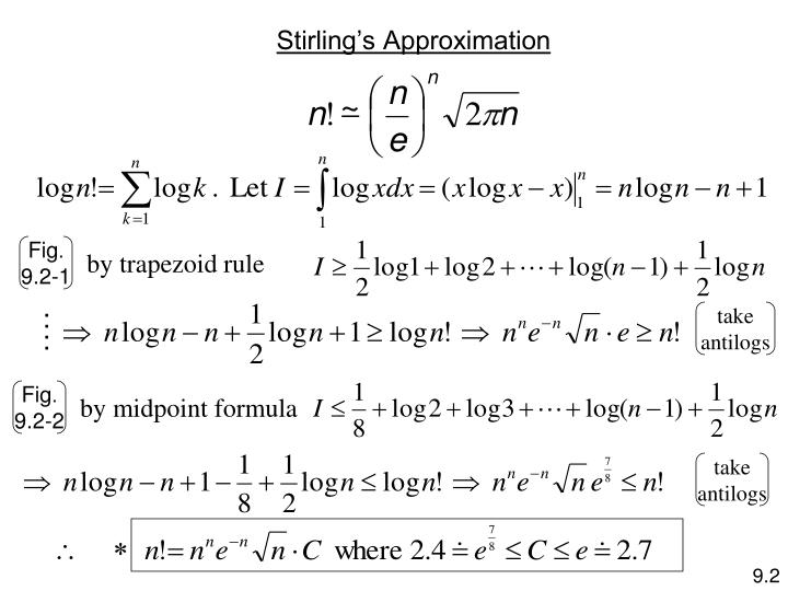 Stirling s approximation