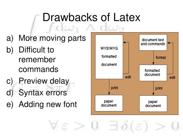 Drawbacks of Latex