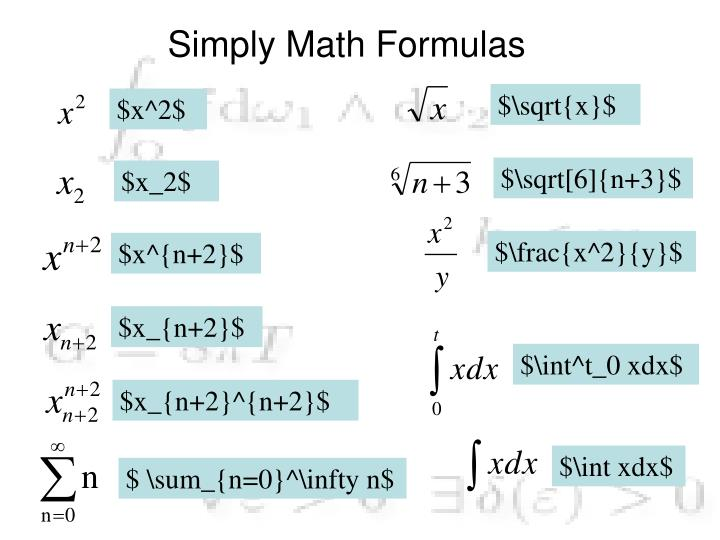 Simply Math Formulas