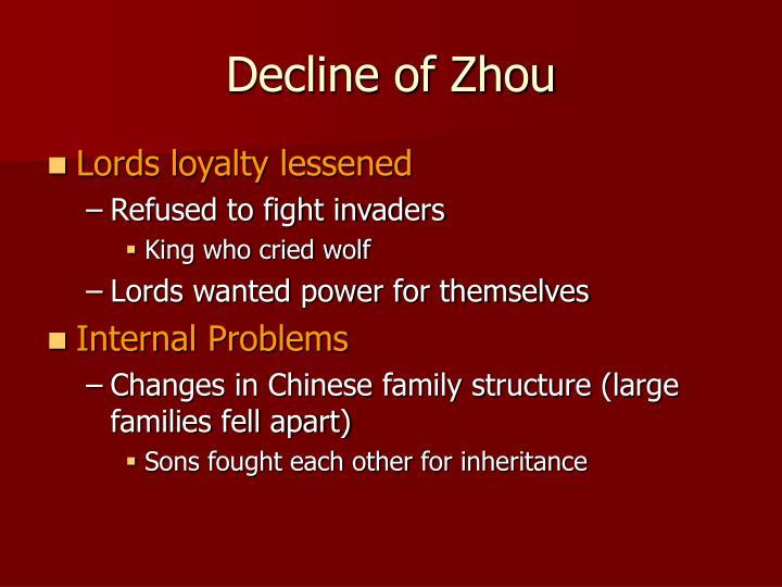 Decline of Zhou