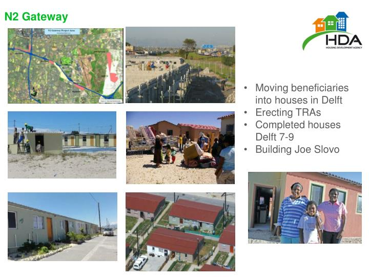 Moving beneficiaries into houses in Delft