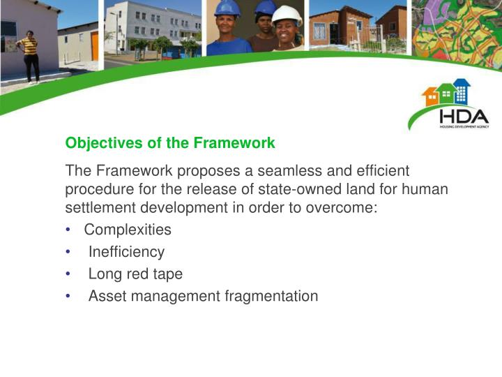 Objectives of the Framework