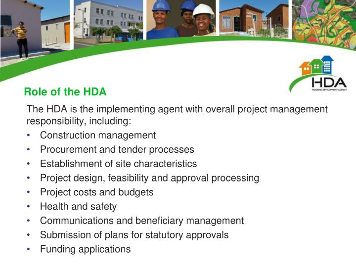 Role of the HDA