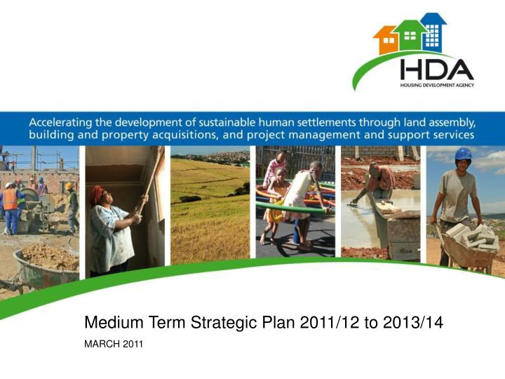 Medium Term Strategic Plan 2011/12 to 2013/14