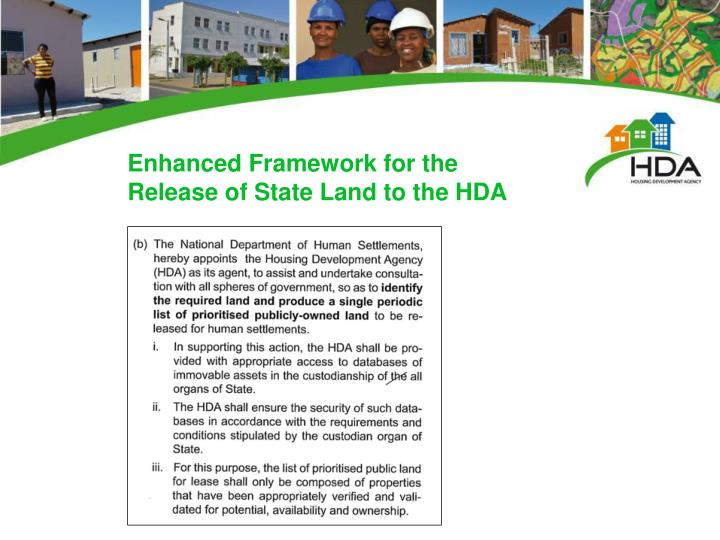 Enhanced Framework for the Release of State Land to the