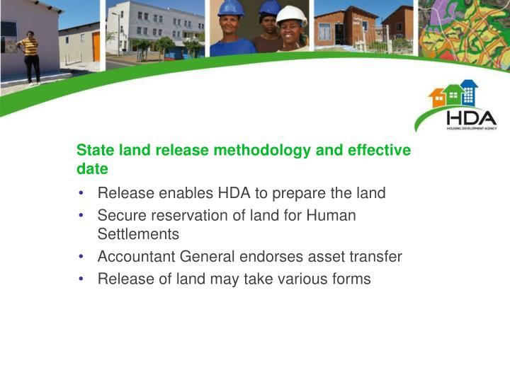 State land release methodology and effective date