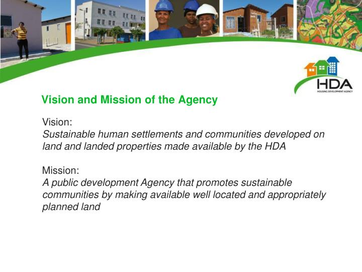 Vision and Mission of the Agency
