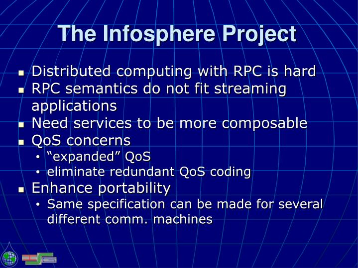 The infosphere project