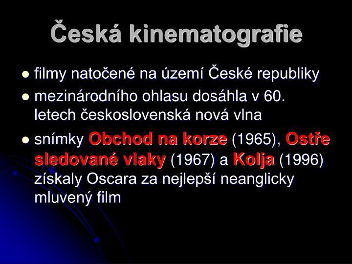 Česká kinematografie