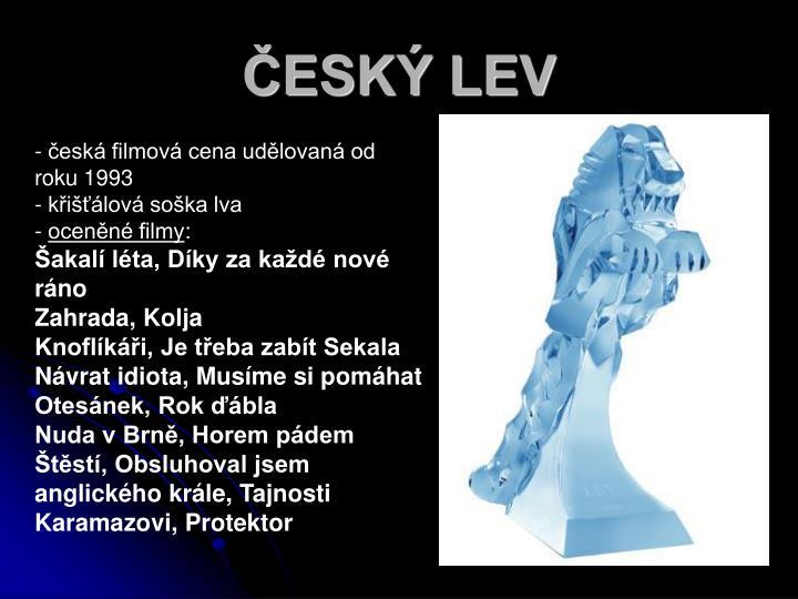 ČESKÝ LEV