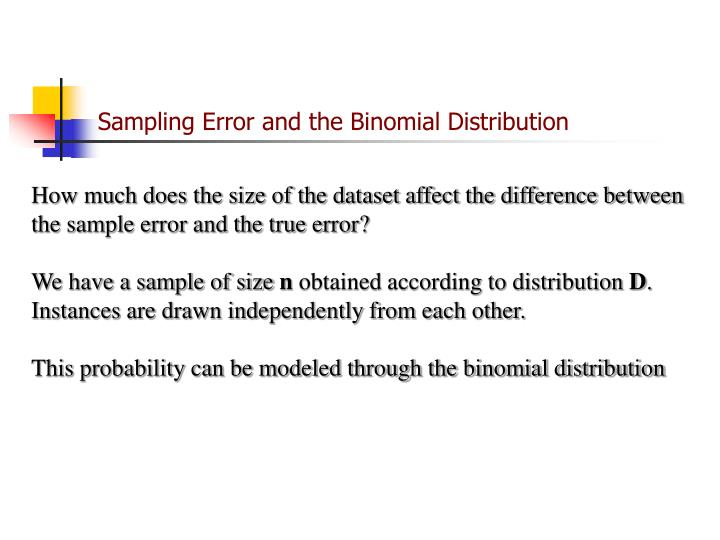 Sampling Error and the Binomial Distribution