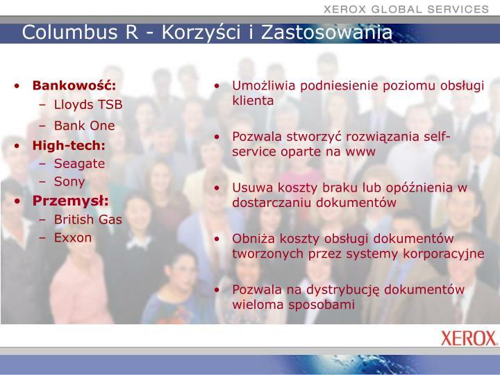 Columbus R - Korzyści i Zastosowania