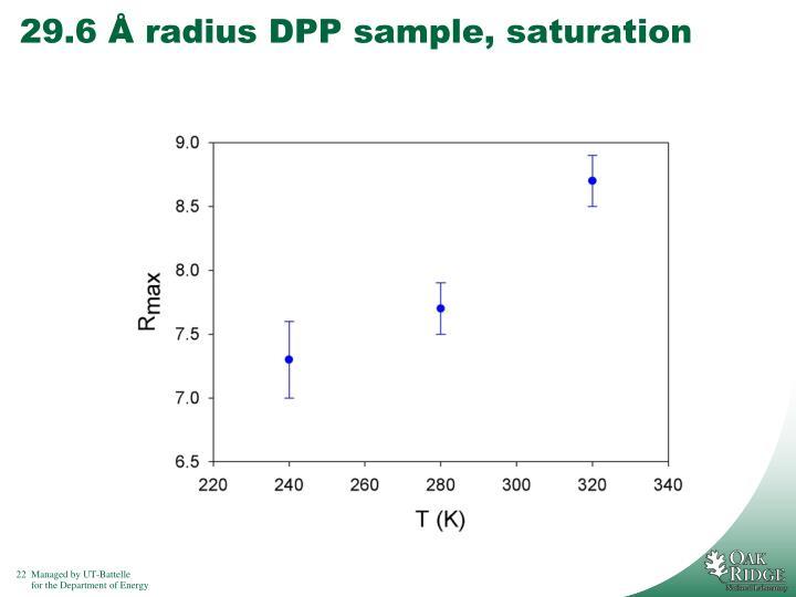 29.6 Å radius DPP sample, saturation