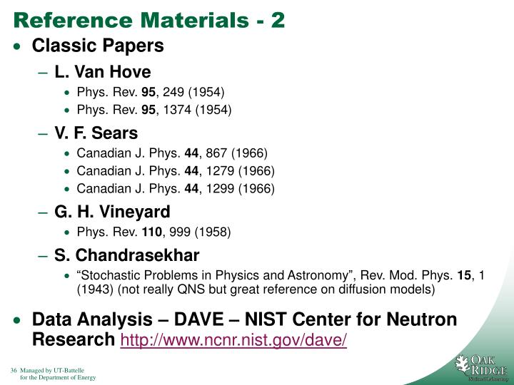 Reference Materials - 2
