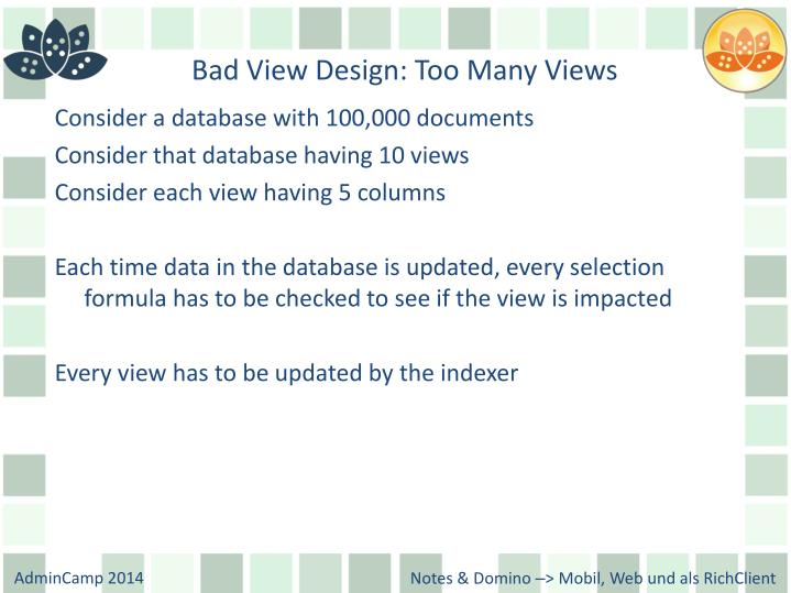 Bad View Design: Too Many Views