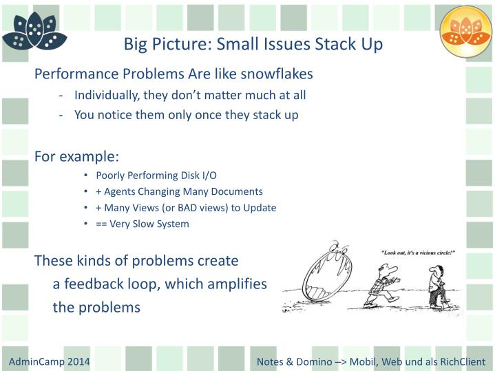 Big Picture: Small Issues Stack Up