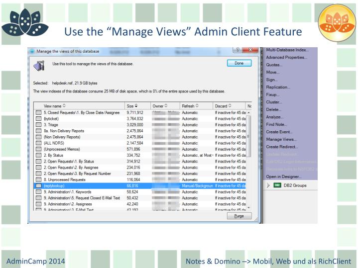 "Use the ""Manage Views"" Admin Client Feature"