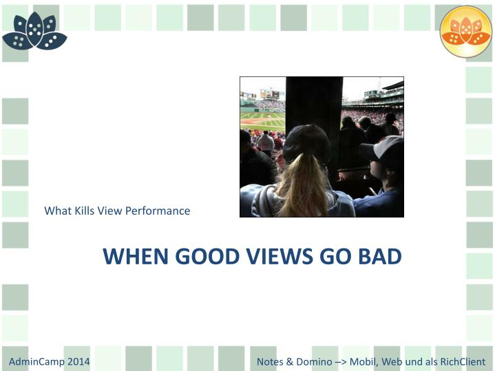 What Kills View Performance