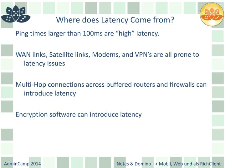 Where does Latency Come from?