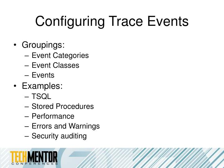 Configuring Trace Events