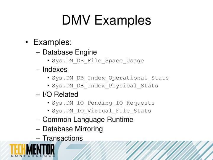 DMV Examples