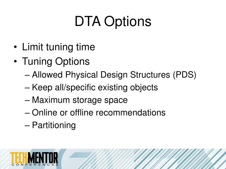DTA Options
