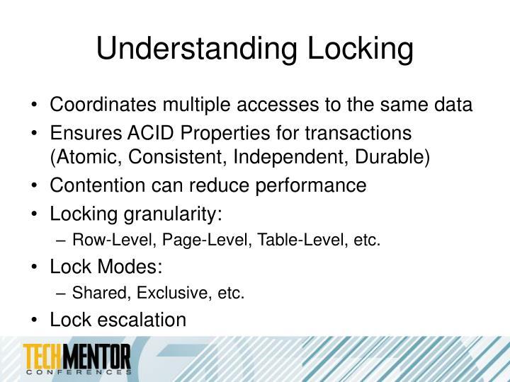 Understanding Locking