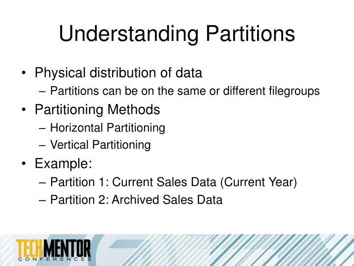 Understanding Partitions