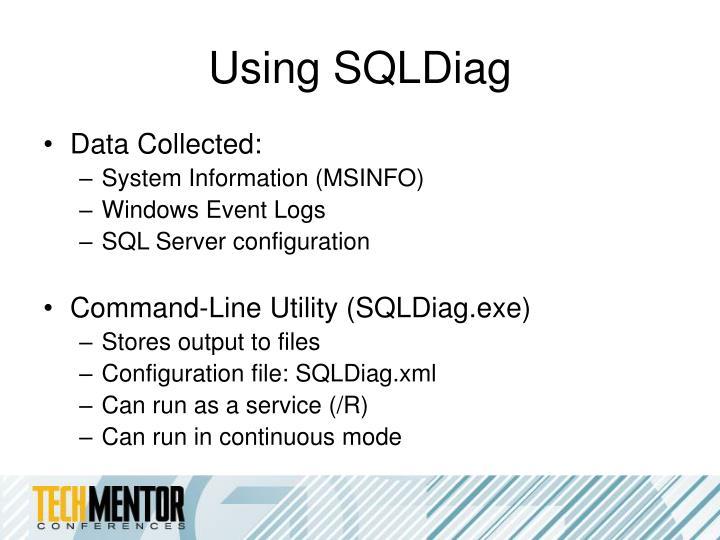 Using SQLDiag