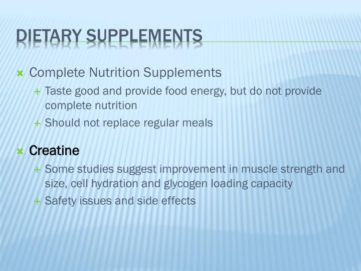 Complete Nutrition Supplements