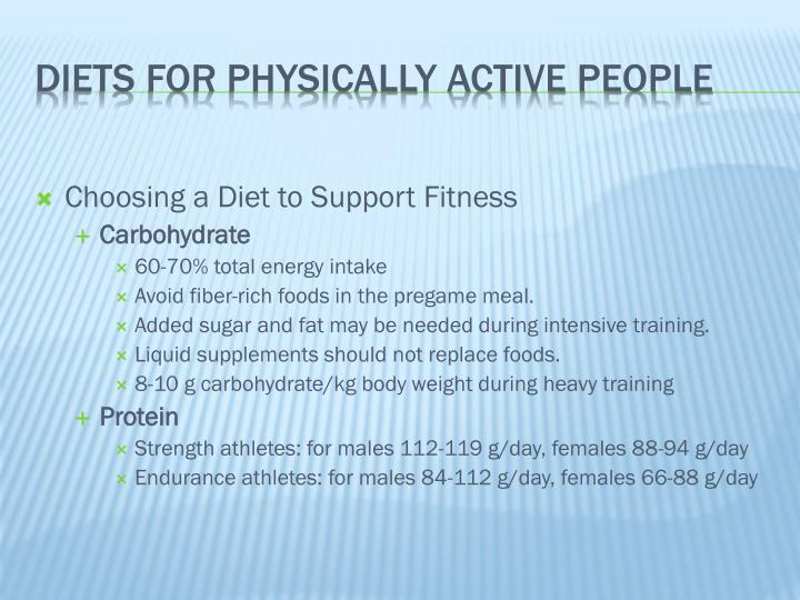 Choosing a Diet to Support Fitness