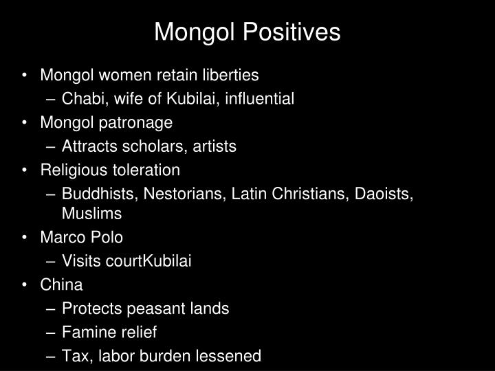 Mongol Positives