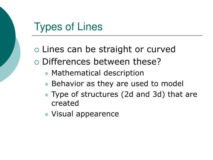 Types of Lines