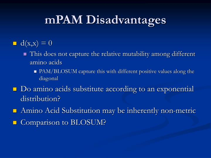 mPAM Disadvantages