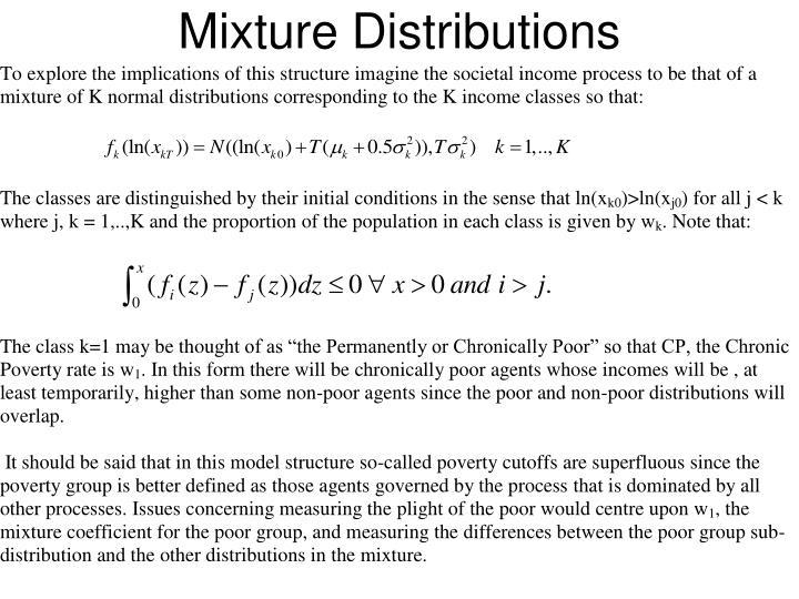 Mixture Distributions
