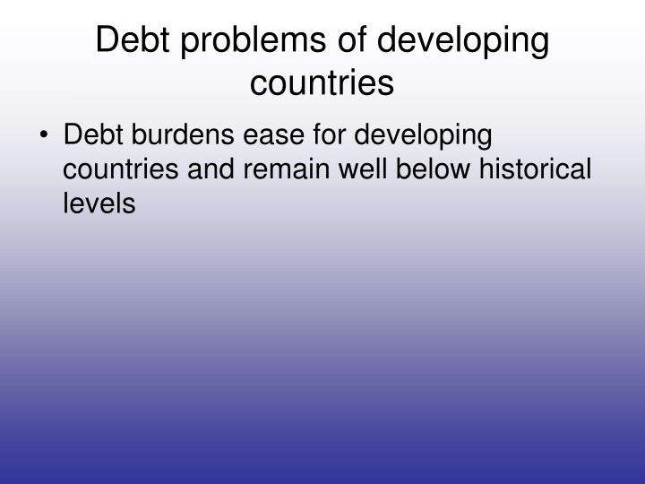 Debt problems of developing countries