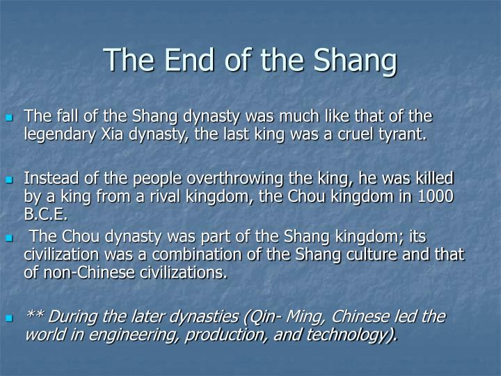 The End of the Shang