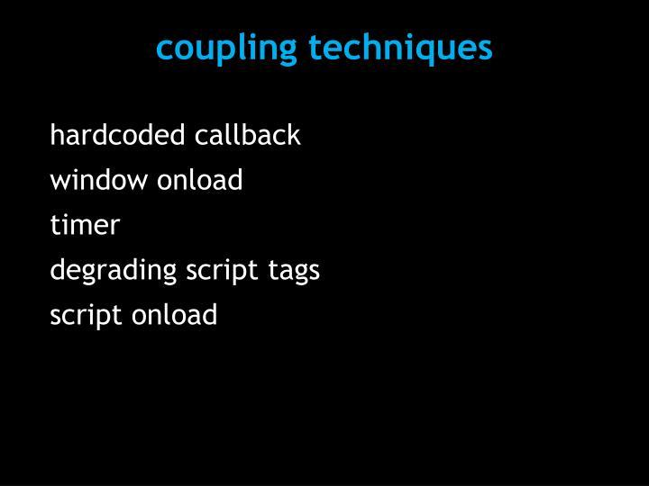 coupling techniques