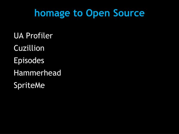 homage to Open Source