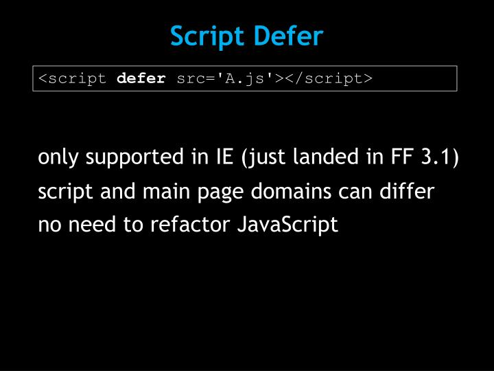 Script Defer