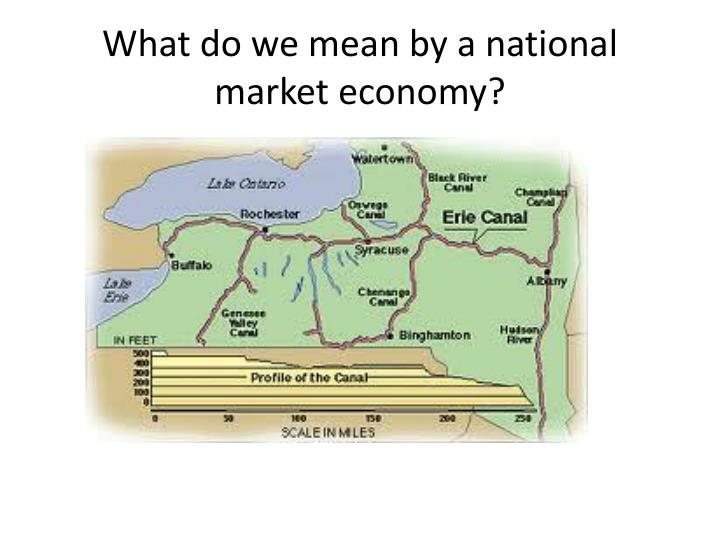 What do we mean by a national market economy?