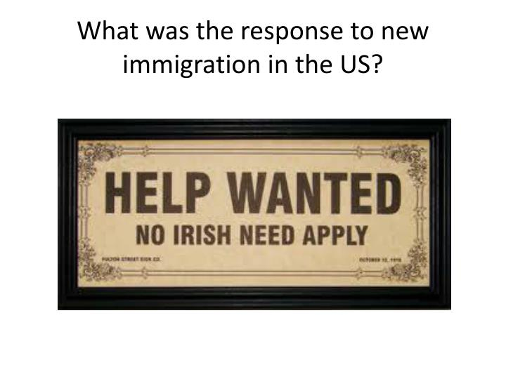 What was the response to new immigration in the US?