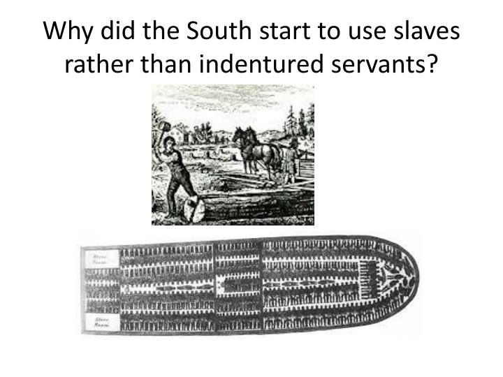 Why did the South start to use slaves rather than indentured servants?